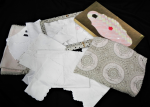 Lot 5 - Group lot of assorted vintage table related Napery including, crochet and embroidered ecru tablecloth - approx 174 cm L 140cm, supper cloths, doilies,