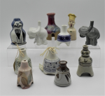 Lot 18 - Group lot - vintage assorted decorative pottery and china Pie Funnels inc, elephants, Chef, hand painted Australian Studio Pottery, etc