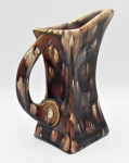 Lot 47 - 1930s St Clares Pottery Jug - Squared Art Deco shape, handle with circular design to lower, incised mark to base St Clares - 22cm H small chip to base
