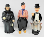 Lot 62 - 3 x Novelty Figural Decanters incl Dutch Bols Decanter, Harold Macmillan (British Prime Minister), stamped Japan to base, and a Night Watchman marked