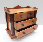 Lot 69 - Miniature Pine Chest of Drawers, possibly an apprentice piece - 22cm H