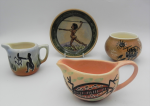 Lot 81 - 4 x small pieces Vintage Australian Pottery - all decorated with Aboriginal designs - Studio Anna, etc