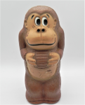 Lot 93 - Vintage c1981 Nintendo Donkey Kong Plastic Money bank - all marks to base & with original Cut to open stopper - some slight ware - 18cm H