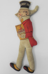 Lot 103 - Vintage Sunny Jim Rag doll  advertising 'Force Wheat Flakes'  42cms L