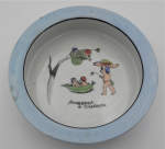 Lot 136 - 1930s Snugglepot and Cuddlepie Nursery Bowl, made in Japan, stamped to base, 18cm D