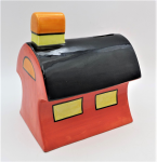 Lot 143 - Vintage English signed Lorna Bailey  - Old Ellgreave Pottery LE Cottage Money box signed to base 16cm H