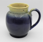 Lot 152 - Vintage c1930s Bakewells Australian Pottery Electric Jug - Blue & Yellow glaze, no lid or element, marked to base - 19cm H