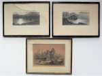 Lot 164 - 3 x Framed c1900 Pictures incl 2 x Scottish Photographs by Elmer Keene (1853-1929), signed and titled, one of Ducks Flying over Loch Katrine at Moonli