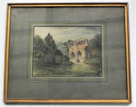 Lot 170 - John Le Conte (1816-1887) Framed Watercolour - Dryburgh Abbey, St Marys Aisle & Tomb of Sir Walter Scott - Signed & Titled, lower left & centre, damag