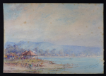 Lot 171 - Artist Unknown c1925 Unframed Australian Watercolour - Victor Harbour from Causeway - Unsigned, titled & dated 4 Nov 25, lower right - 17x24cm - some