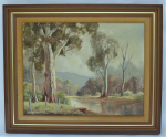 Lot 172 - Rod Rowland (1939 - ) Framed Oil Painting - In The Buckland Valley - Signed & dated 1982, lower left, further signed & titled verso - frame size 46x56