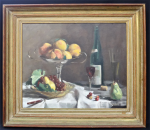 Lot 173 - Bruce Fletcher (1937 - ) Framed Oil painting - Still Life - Signed lower right, titled verso on affixed label, frame size 64x72cm, image 45x55cm