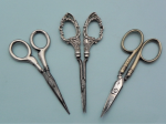 Lot 179 - 3 x pair Scissors incl Nail scissors with ornate Sterling Silver handles (Bham 1911), silver, mark sighted & silver plate