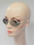Lot 183 - Pair Vintage 1920-30s Sunglasses - tinted oval lenses, thin metal frame with mesh side panels, no brand sighted