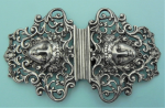 Lot 189 - Large ornate filigree Sterling silver Buckle - (London 1895) Approx 42 grams