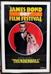 Lot 1 - Vintage c1975 One Sheet Movie Poster for the screening of Thunderball at the James Bond 007 Film Festival - image size 104x69cm frame size 118x74cm