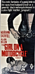 Lot 3 - Vintage Daybill Movie poster - Girl on a Motorcycle - cut down size, 68x31cm