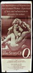 Lot 4 - Vintage R Rated Daybill Movie Poster - The Story of O - no pub details to margin, some damage sighted & tape reside to backs of corners