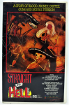 Lot 11 - Vintage VHS Video - Straight To Hell - starring Sy Richardson, Joe Strummer, etc - ex rental copy, marked across cover in silver Sample, Palace Entert