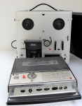 Lot 21 - 2 x vintage Reel to Reel tape Players - Akai 4 track Stereophonic model 1720L + small Portable National model number RQ 501S - both in Good original C
