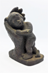 Lot 85 - Artist Unknown Heavy composite Sculpture - Safe in Hand - Signed but illegible & dated 79 to base - 19cm H