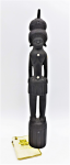 Lot 87 - Carved Wooden Trobriand Island Figure with mother of pearl inlay 29cm H