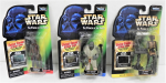 Lot 95 - 3 x c1998 Carded Star Wars Power of the Force Freeze Frame Action figures - Chewbacca, EV-9D9 & Pote Snitkin