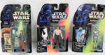 Lot 98 - 3 x c1998 Carded Star Wars Power of the Force Action figures - Han Solo in Carbonite, 2-1B Medic Droid + Aunt Beru with Flashback photo