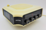 Lot 105 - Astor c1976 Alarm Flip Clock Radio, with light, dimmer, on rotating base, in good original condition, clock and radio both working
