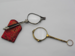Lot 129 - 2 x pair Lorgnettes - gilt (af) and white metal