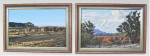 Lot 156 - T A Cafarella (Active c1970-80s) Pair Framed Oil Paintings - landscape near Hawker SA + Flinders Ranges SA - both signed lower right & titled on affix
