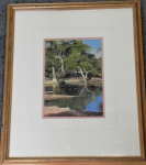 Lot 157 - Bruce Malloch (1936- ) Framed Oil Painting on board - Tranquil River - signed lower right, dated 89, and further titled verso - Frame Size 50cm H 41cm