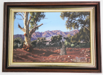 Lot 159 - T A Carafella (Active c1970-80s) Framed Oil Painting - Flinders Ranges SA - Signed lower right, titled on affixed label verso - frame size 40x55cm