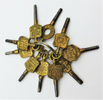 Lot 171 - 10 x Fob Watch keys - all marked with makers, English