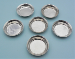 Lot 187 - 6 x Hamilton & Inches Silver hallmarked Gaming counter dishes - Edinburgh 1969, 1970, 1971 - TW approx 145 grms