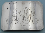 Lot 188 - Rectangular Australian Sterling silver Buckle made by Stokes, Melbourne - TW approx 41 grms