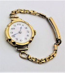 Lot 190 - 9ct Gold Case Ladies Wristwatch with 15j Swiss movement  -  not working