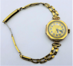 Lot 191 - Ladies 1920s 9ct gold Cased Wristwatch - working